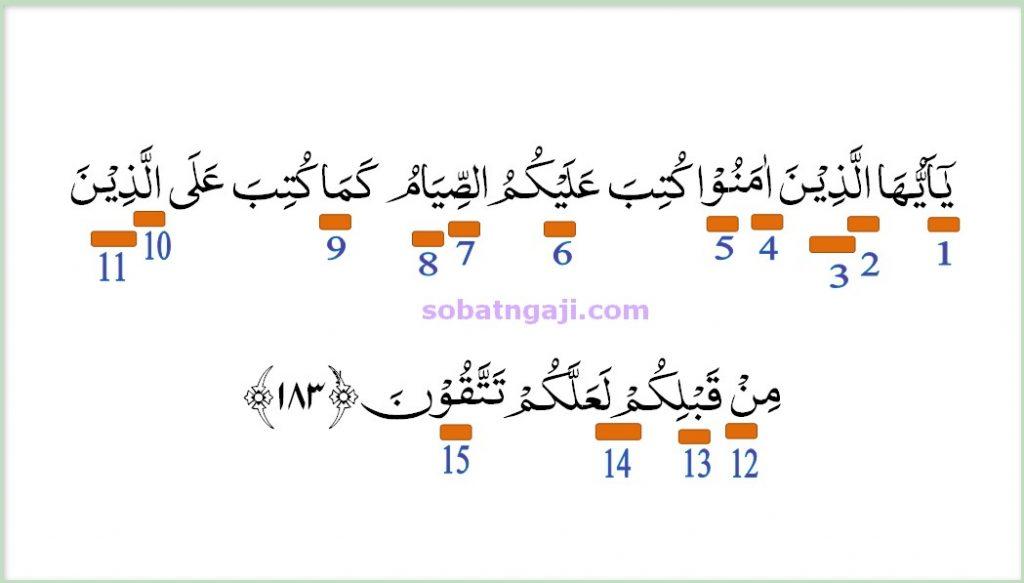 hukum tajwid surat al-baqarah ayat 183